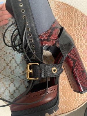 Burberry Heel Boots dark red-black