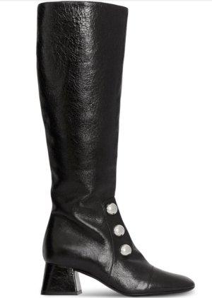 Burberry Stiefel Knee high Boots Lederschuhe Schwarze Schuhe  Winterschuhe Herbstschuhe Stiefeletten
