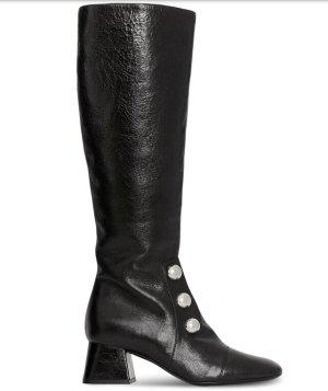 Burberry Stiefel Knee high Boots Lederschuhe Schwarze Schuhe Winterschuhe Herbstschuhe Reiterstiefel Stiefeletten