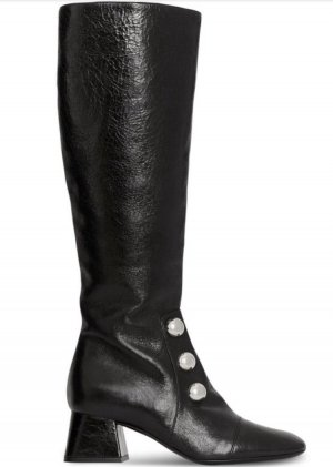 Burberry Heel Boots black-silver-colored leather
