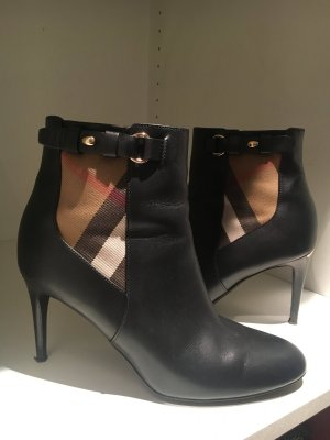 Burberry Zipper Booties multicolored leather