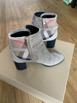 Burberry Wedge Booties camel