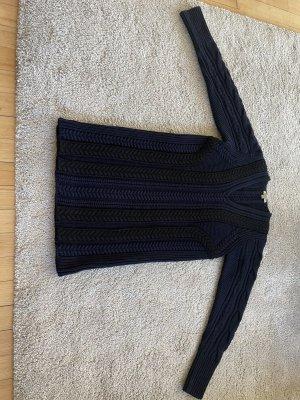 Burberry Sukienka z dzianiny czarny-ciemnoniebieski