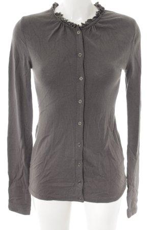 Burberry Veste en tricot gris foncé style décontracté