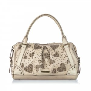 Burberry Studded Leather Pilgrim Handbag