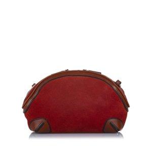 Burberry Sac bandoulière rouge daim