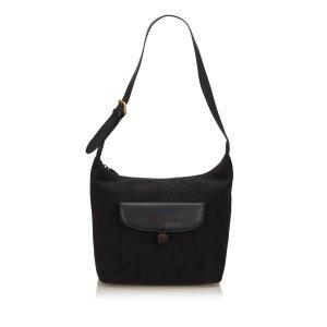 Burberry Shoulder Bag black suede