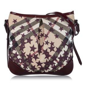 Burberry Supernova Check Julia Canvas Crossbody Bag