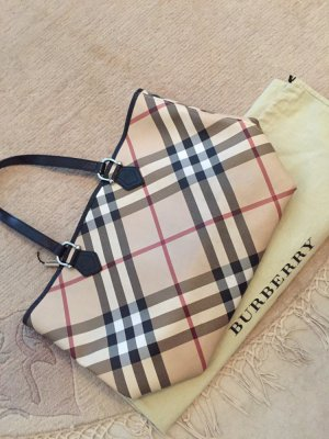 Burberry Supernova Check Tote Nickie small black