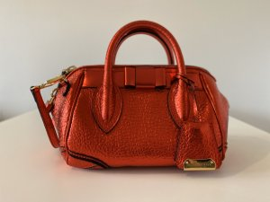 Burberry Sac bowling rouge cuir