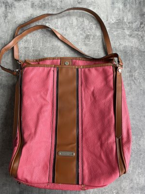 Burberry Borsetta rosso lampone-marrone chiaro