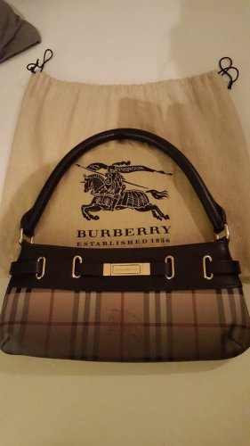 Burberry Carry Bag dark brown-brown leather