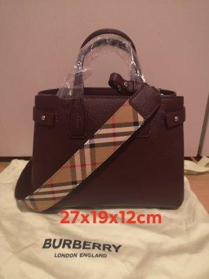 Burberry Tasche dunkel rot neu original