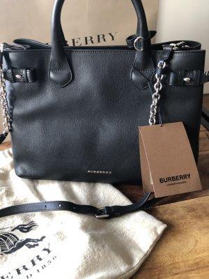 Burberry Bolso negro-color plata