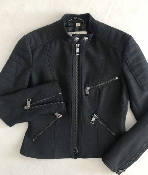 Burberry London Giacca da motociclista antracite-nero