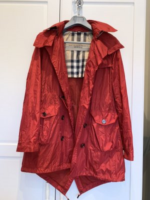Burberry Brit Trench Coat dark red-brick red
