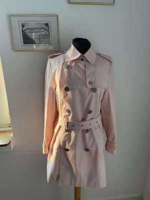 Burberry London Trench Coat dusky pink-pink cotton