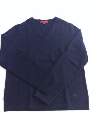 Burberry London Maglione con scollo a V blu scuro