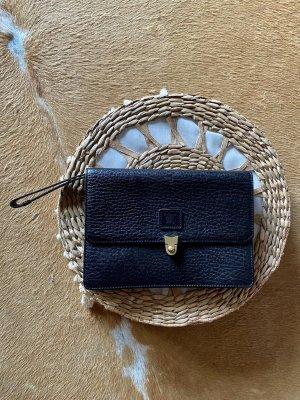Burberry Vintage Tasche Handtasche Clutches Rarität Schwarz leder