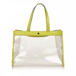 Burberry Tote pale green polyvinyl chloride