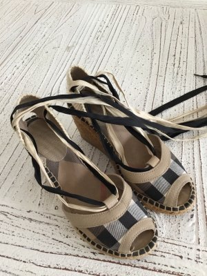 Burberry Espadrille Sandals black-beige