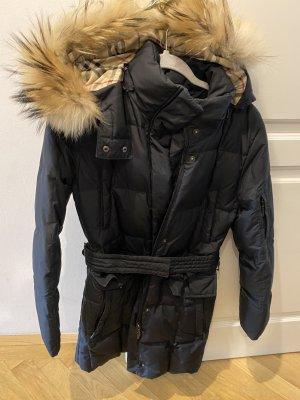 Burberry Manteau à capuche noir-beige