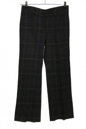 Burberry Woolen Trousers black check pattern business style