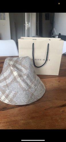 Burberry Cappello di lana grigio chiaro-bianco