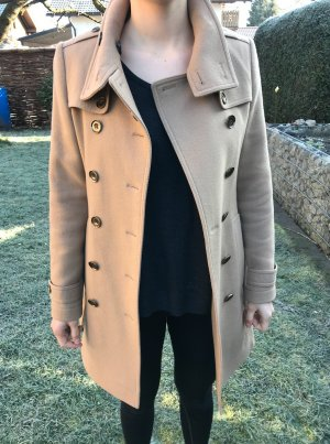 Burberry Brit Wool Coat beige wool