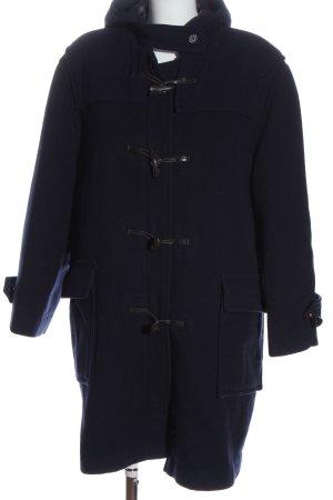 Burberry Abrigo de lana azul estilo clásico