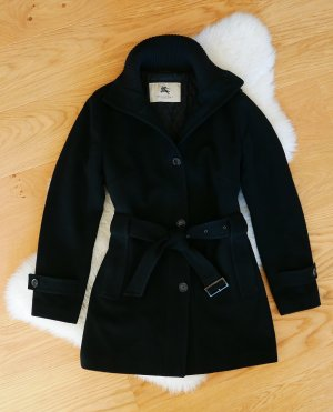 Burberry Wollmantel schwarz Gr.40/L Wintermantel Trenchcoat Wolle Mantel