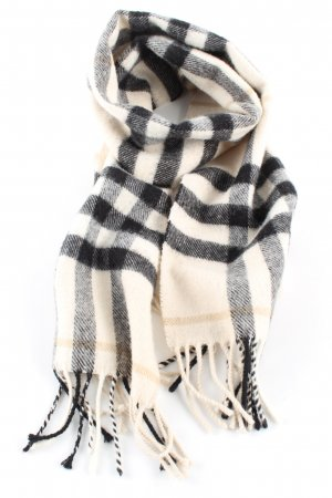 Burberry Woolen Scarf cream-black allover print casual look
