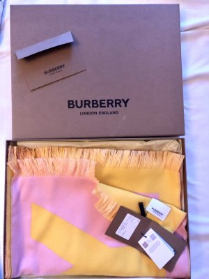 Burberry Wollschal Cotton Pink Yellow