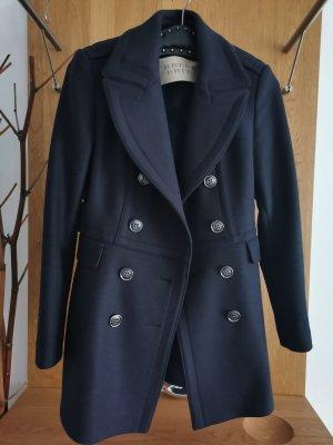 Burberry Brit Manteau en laine bleu foncé