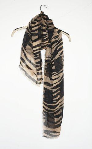 Burberry Chal negro-marrón claro tejido mezclado