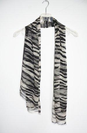 Burberry Zijden sjaal wit-zwart Zijde