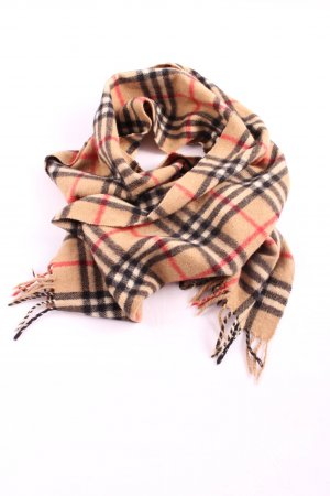 Burberrys' Fringed Scarf allover print casual look