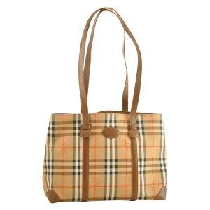 Burberrys Nova Check Canvas Tote Bag