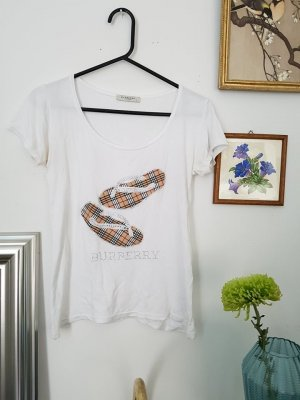 Burberry T-Shirt white-bronze-colored cotton