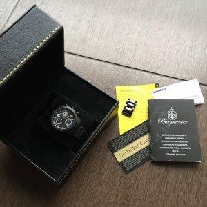 100 Horloge met metalen riempje zwart