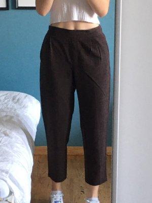 H&M Peg Top Trousers dark brown-brown red