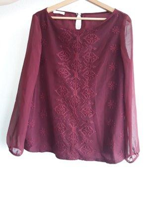 burgunderrote Bluse von Promod