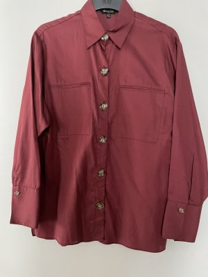 Massimo Dutti Blusa-camisa carmín