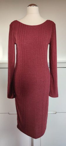 Promod Robe en maille tricotées rouge carmin