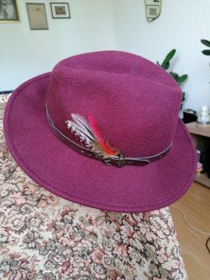 Woolen Hat purple wool