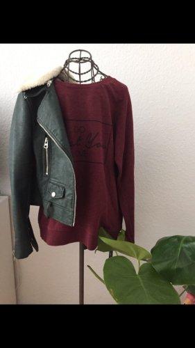 Burgundy Sweater Pullover Amisu