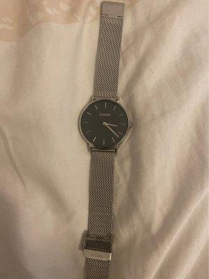 Burker Horloge met metalen riempje zilver
