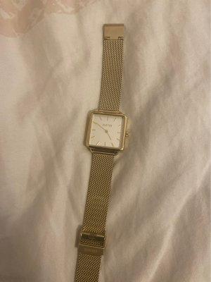 Burker Horloge met metalen riempje goud