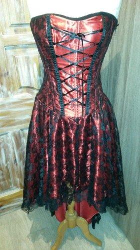 Robe bas asymétrique multicolore coton