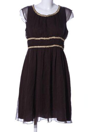 Burlington Chiffon Dress brown elegant